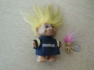 Troll Dolls - Chargers Russ and tiny with pink hair