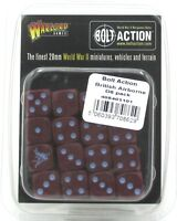 Bolt Action 408401101 British Airborne D6 Pack (16 Dice) WWII Maroon Pegasus NIB