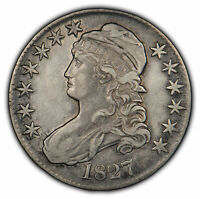 1827 50c Capped Bust Half Dollar - AU Details - Some Original Luster - H1017