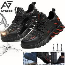 AtreGo Men's Safety Steel Toe Cap Trainer Boots Mesh Anti-puncture Work    M