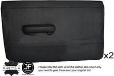 Noir piquer 2X front full porte carte en cuir couvre fits triumph dolomite saloon