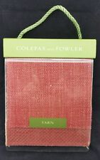 "Colefax and Fowler ""Tarn"" Sample Book, Patches, Fabric, 20 Leaves 2004, 8"" wide"