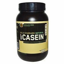 Optimum Nutrition, Gold Standard, 100% Casein, Natural, Chocolate Crème, 2 lbs