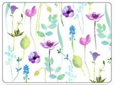 Pimpernel Agua Jardín Salvamanteles Mesa Felpudos Blanco Floral Juego De 6 Caja