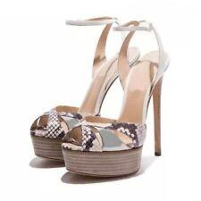 Women Sexy Platform Stiletto Peep Toe Ankle Strap Slingbacks Sandals Party Shoes