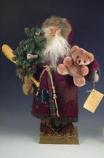 "Vintage The Tender Art Collection Large 14"" Woodland -Folk Art Santa Christmas"