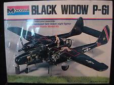 SEALED VTG '74 Black Widow Northrop P-61 Airplane Monogram USA 7546 Model/Kit A+