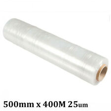 CLEAR STRETCH FILM PALLET WRAPPING PACKAGING SHRINK WRAP ROLL 500MM x 400M 25um