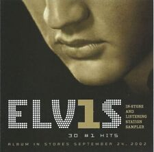 ELVIS PRESLEY 30 #1 Hits In-Store Listening Station Sampler Promo CD