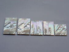 "Solid Mother of Pearl Knife Handle Scales Blanks 2 1/2""x7/8""x0.120"", 1Pair"