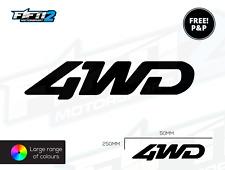 4WD unidad de cuatro ruedas de Reemplazo Calcomanías De Lado X 2 Gráficos Pegatinas fuera Roader
