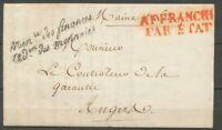 1826 Lettre Franchise Ministère des finances Don des monnaies P3128