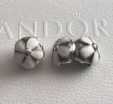 Genuine Pandora Sterling Silver Daisy Clip X 2 - 791259EN12