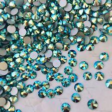 SWAROVSKI CRYSTALS 100 x SS20 JET AB diamantes rhinestones GLUE ON BLACK effect