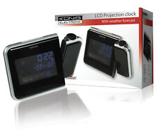 STATION METEO COULEUR HORLOGE A PROJECTION REVEIL SNOOZE THERMOMETRE HYGROMETRE