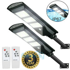 9990000Lm Solar Street Light Led Outdoor Ip67 Dusk-to-Dawn Area Road Spotlight