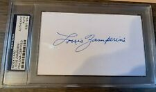 Louis Zamperini WWII Signed PSA/DNA Certified Four by Six Index Card