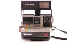 Vintage Polaroid Supercolor 635 cámara instantánea) FUNCIONA!!! Negro