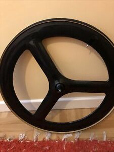 Carbon Tri Spoke Front Wheel TT/ triathlon: With Tubular New Tyre