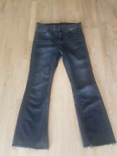H&M Kick Flare washed Black Jeans Size 28