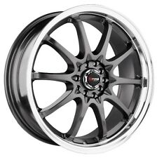 18 DRAG DR9 GUN METAL WHEEL RIMS IMPREZA WRX 350Z RAV4