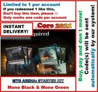 MAGIC MTG Arena Code: Standard 2021 Arena 2 Decks (BLACK + GREEN) INSTANT EMAIL!