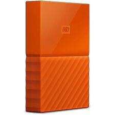 Western Digital WD 2TB My Passport Portable Hard Drive - Orange