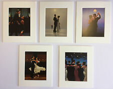 "'The Dancers Selection' by Jack Vettriano Set of 5 Mounted Art Prints 10"" x 8"""