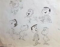 """Advertising Art"" Lucky Charms Original Pencil Production Drawing Leprechaun"