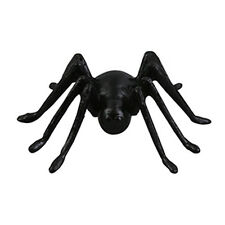12 Black Spiders Halloween Cake Cupcake Toppers Party Favors Decorations