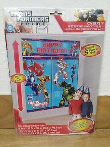Transformers Prime Happy Birthday Wall Decorating Kit