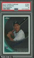 Yankees 2010 Topps Chrome #190 Mike Stanton Marlins RC Rookie AUTO PSA 9 MINT