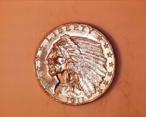1911 $2.50 Indian Head Gold Quarter Eagle in AU Condition