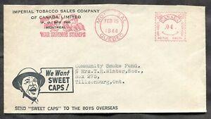 p636 - MONTREAL 1944 Patriotic Meter Slogan on Cigarettes ADVERTISING Cover ✉