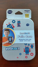 VTech InnoTab 3 Folio Case Gray Silver Robot Stylus Holder Cartridge Holder