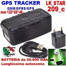 GPS Tracker LK 209_C batteria 20000mAh lunga autonomia Vehicle Tracker Real-Time