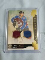 2019-20 Upper Deck Artifacts Gold Material 100/165 Alex Kerfoot #16 Avalanche