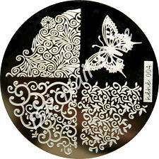 Stamping Schablone hehe 004, Stempelschablone, Nail Art Stempel