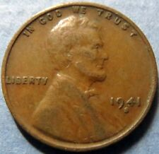 *Vintage and SCARCE  1941-S  LINCOLN WHEAT CENT,  San Francisco Mint WAR COIN