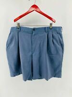 Izod Men's Golf Shorts Pleated Front Pockets Zip Fly Chino Shorts Blue Size 40