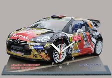 CHARDONNET,CITROEN DS3 WRC, Rallye Monte Carlo 2015-04 en horloge miniature