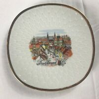 """Augsburg Plate VTG Wall Decorative Collectible Germany Bavaria 7.5"""" City Village"""