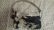 Celine Tied Dye Denim Metallic Leather Trim Handbag