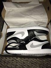 NEW Air Jordan 1 Low Court Black/Smoke Grey 553558-039 Men's Size 10