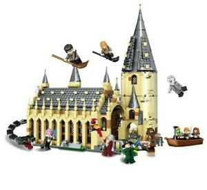 Bloc Construction Type Lego Harry Potter Salle Château Poudlard + 10 Figurines