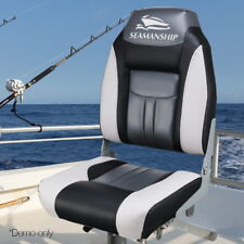 Seamanship 2x Folding Boat Seats Seat Marine Seating Set All Weather Swivels Bk
