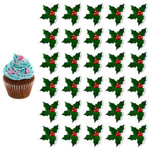 Winter Ilex eßbar Torten-Bild-Aufleger Party Deko Muffin Keks Geschenk Weihnacht