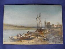 R. Alott Old Master Oil Painting on Wood Panel Signed