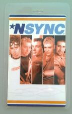 'N Sync Natalie Imbruglia Laminated Backstage Pass