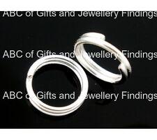Plaqué argent double loops open jump rings 4mm dia. (200 pcs)
